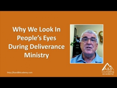 Why We Look In People's Eyes During Deliverance Ministry